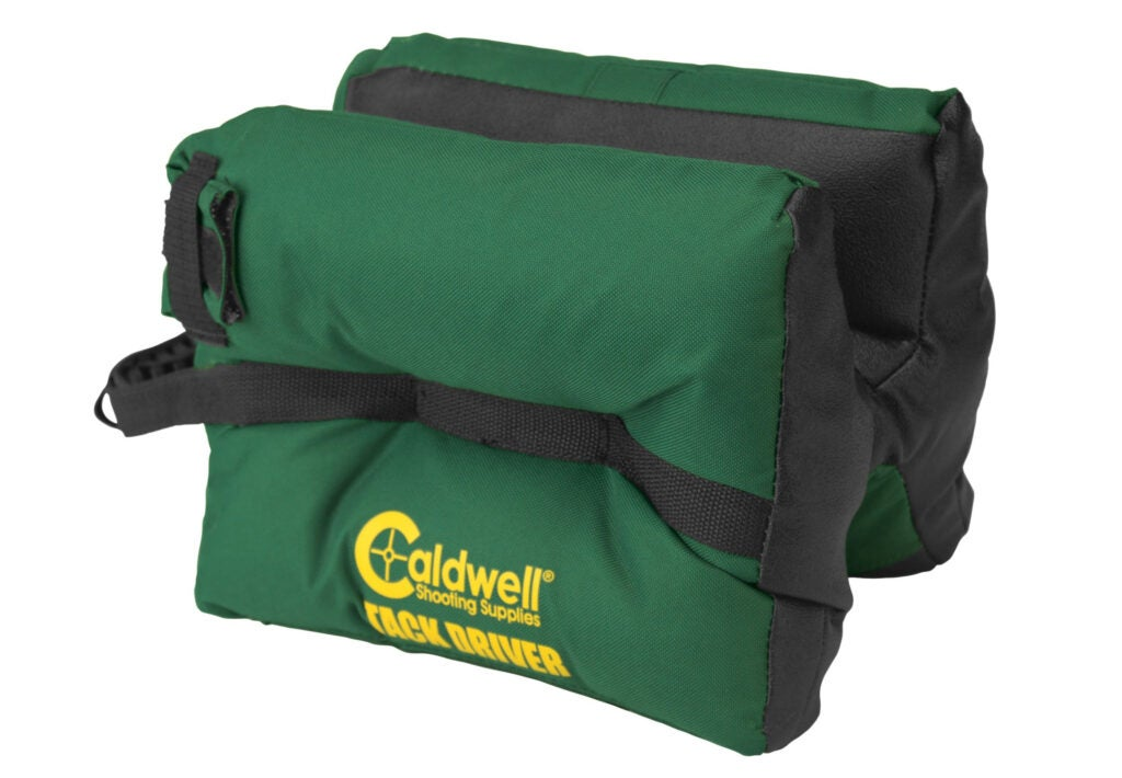 The author prefers Caldwell's TackDriver Shooting Bags as rests for long guns at the range.