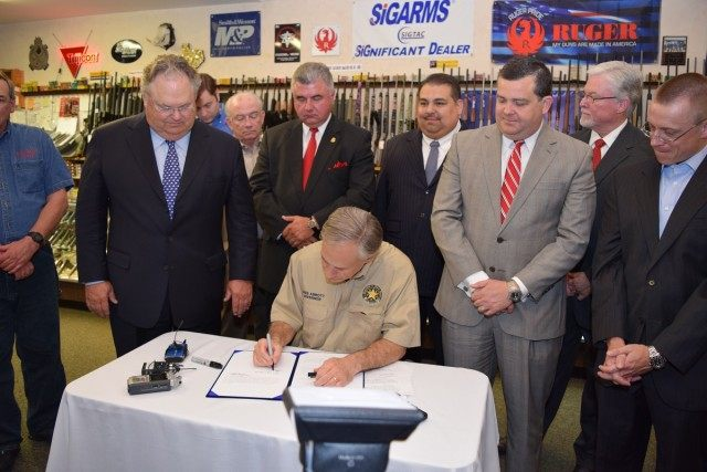 Gov. Abbott Signs Texas Open Carry, Campus Carry Bills
