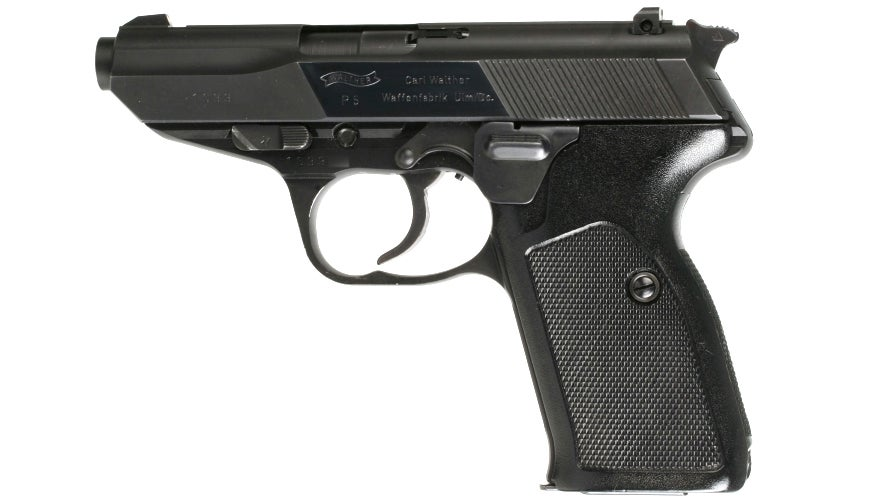 The Walther P5 replaced the familiar PPK for Sean Connery's last appearance as James Bond in the non-canon *Never Say Never Again*.