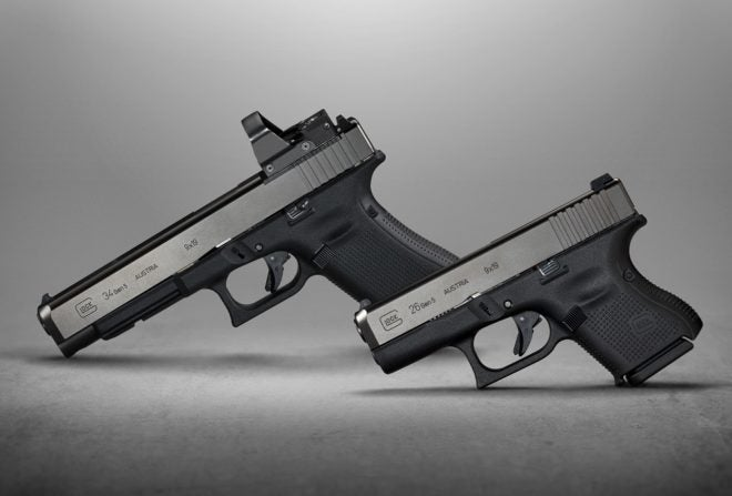 The new Gen5 G34 and G26 pistols from Glock.