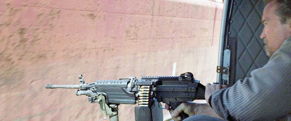 You can see the gun is loaded with crimped blanks.