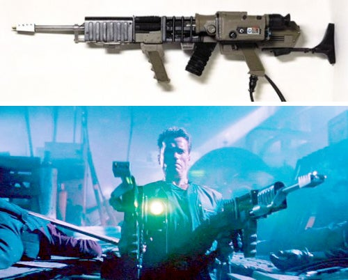 The fictional Railguns created for the movie. Kruger double wields them during the final shootout.