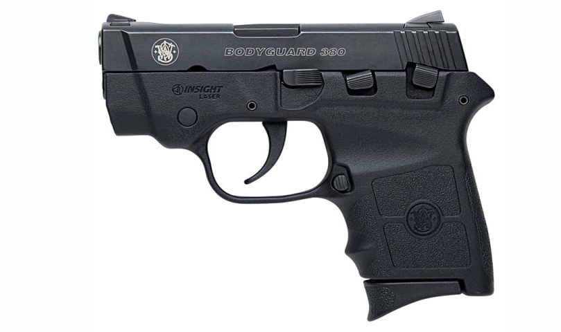 A Smith & Wesson M&P Bodyguard in .380.