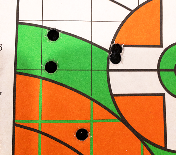 This nice group using Sig Sauer V-Crown 124-grain ammo measured just 2.01 inches in diameter.