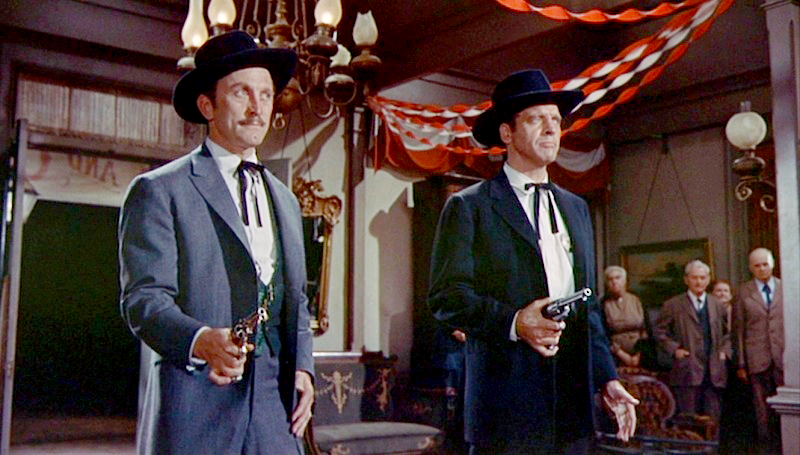Burt Lancaster as Earp with a Colt Single Action Army