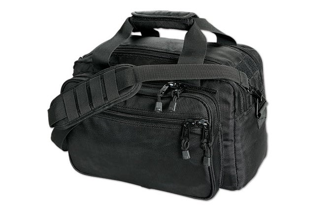 The author picks Uncle Mike's Side-Armor Range Bag.