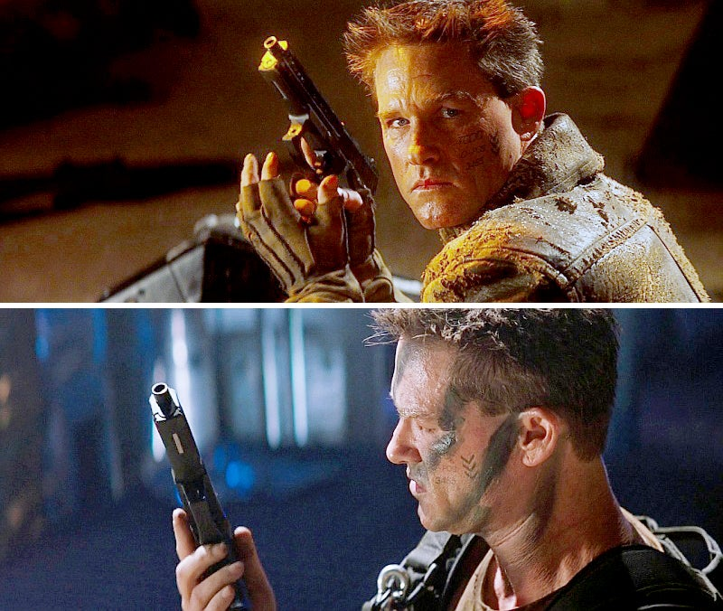 Russell was likely the first actor to use a real H&K Mk23 Mod 0 pistol in a movie.