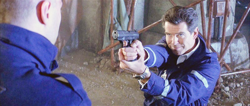 Bond starts off carrying the Walther P99 in *The World Is Not Enough*.