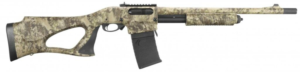The 870 DM Predator, designed for hunting right out of the box and comes with a 3-round magazine.