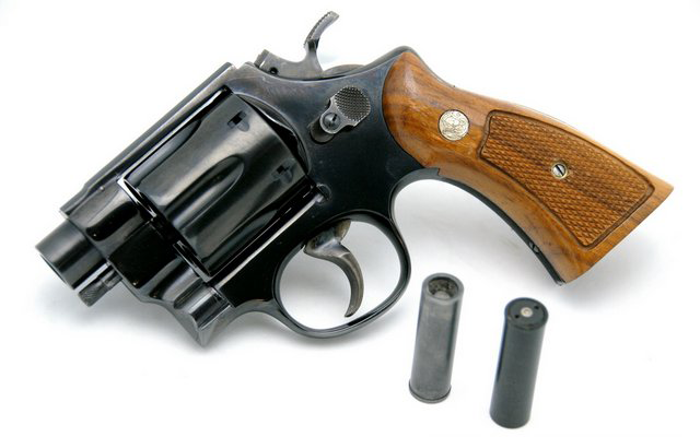 A replica of the QSP revolver, also designed by Smith & Wesson for use by tunnel rats.