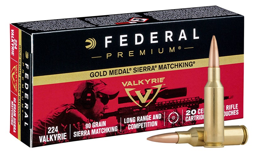The 90-grain Gold Medal Sierra Matching in .224 Valkyrie.