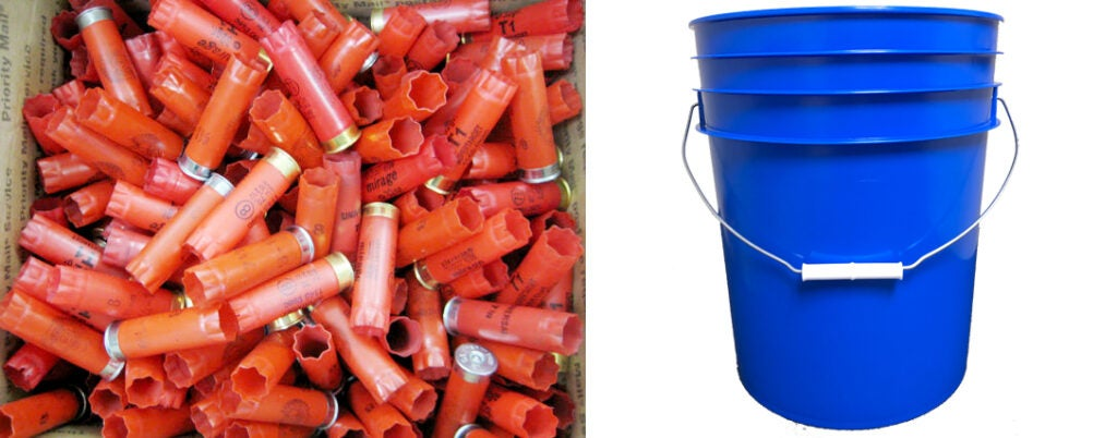 Shotguns, more than any other kind of shooting, produce a lot of spent shell material. A 5-gallon bucket is a great accessory to have on hand for toting live and spent ammo.