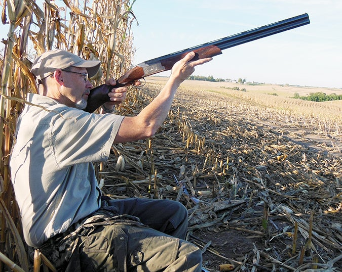The author on a dove hunt with a Browning 725 shotgun.