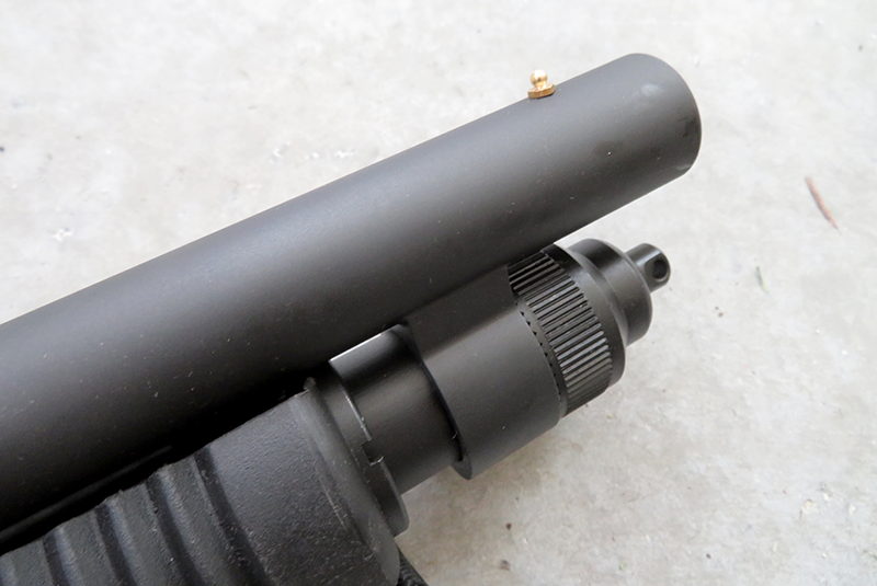 The author experimented with using the Shockwave's brass bead to aim, similar to firing a handgun, and found it surprisingly accurate.