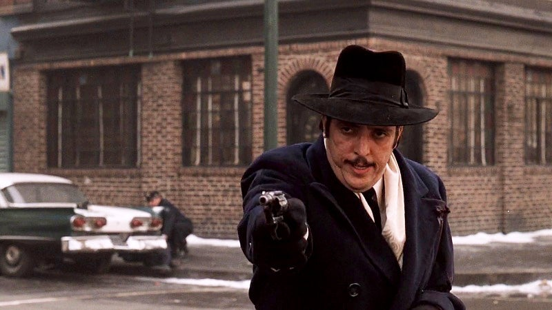 A wounded Willi Cicci and his Detective Special during the NYC street shootout.