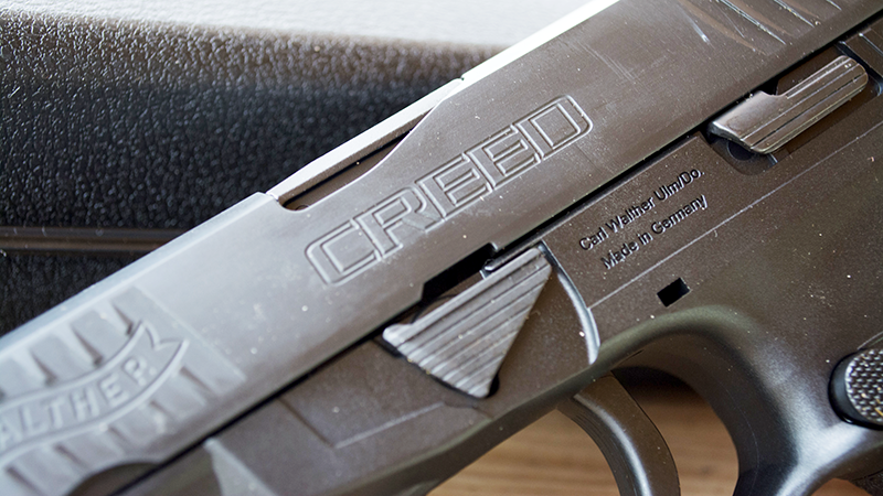 the barrel and slide are Tenifer-treated for durability and corrosion resistance.