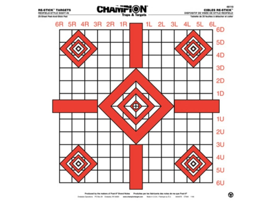 And example of a graduated target from Champion.