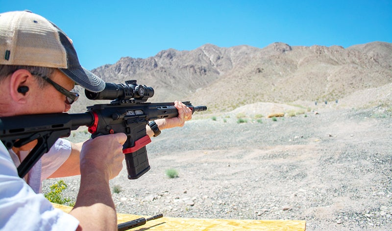 The author didn't get enough range time with the rifles for an accuracy test, but he shot them from a standing, unsupported position and had no problem with quick double taps.