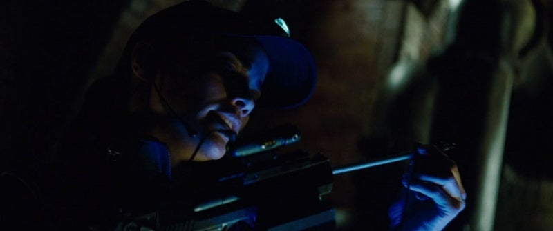 Carter uses the same highly modified Desert Eagle Mark XIX, likely built from an airsoft gun, that was used in the previous MI movie.