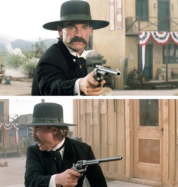 Wyatt Earp( Russell) with his