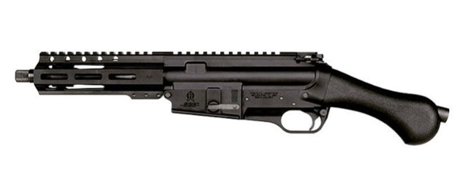 The new Raider pistol comes chambered in 5.56 or .300 BLK and accepts AR-style magazines.