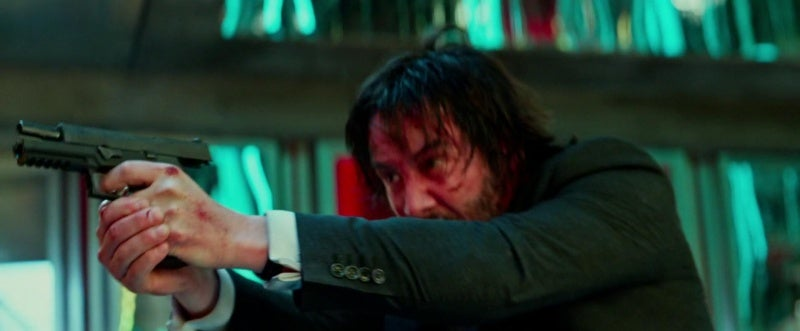 Keanu Reeves briefly uses a SIG P320 in *John Wick: Chapter 2*.