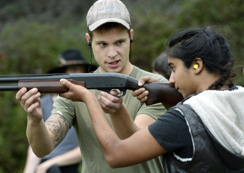 A photo from a training session organized by the Trigger Warning Queer & Trans Gun Club.