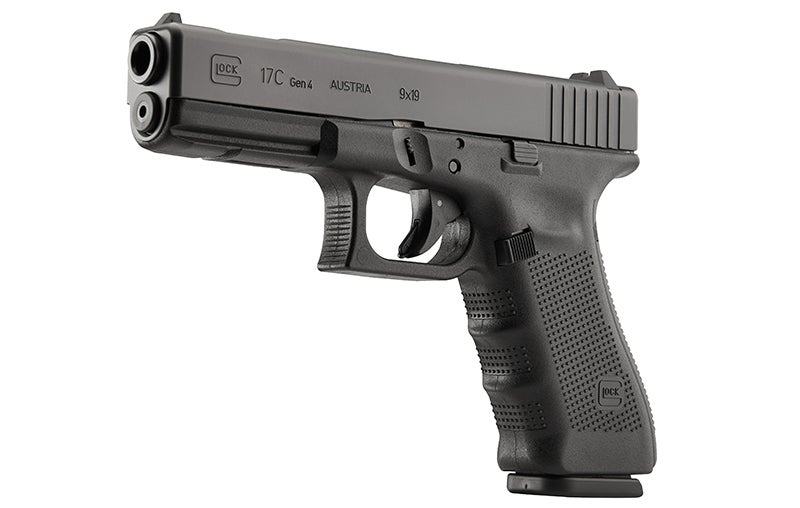 A Glock 17C Gen 4 with a ported barrel and slide.
