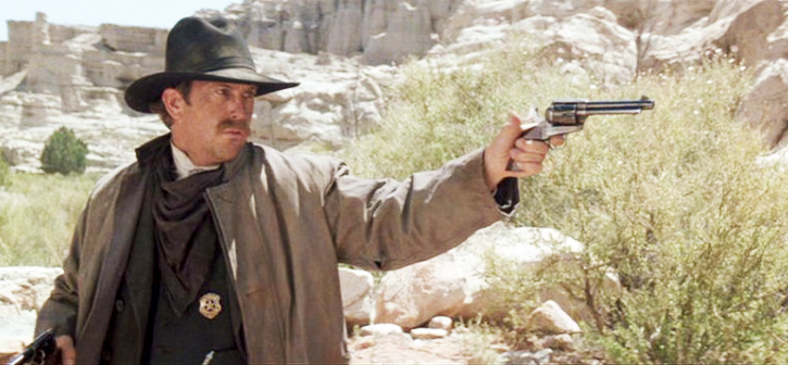 Wyatt continues to use the same revolver during his vendetta ride.