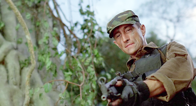 A later shot of Poncho with a mocked up MP5A3 submachine gun.