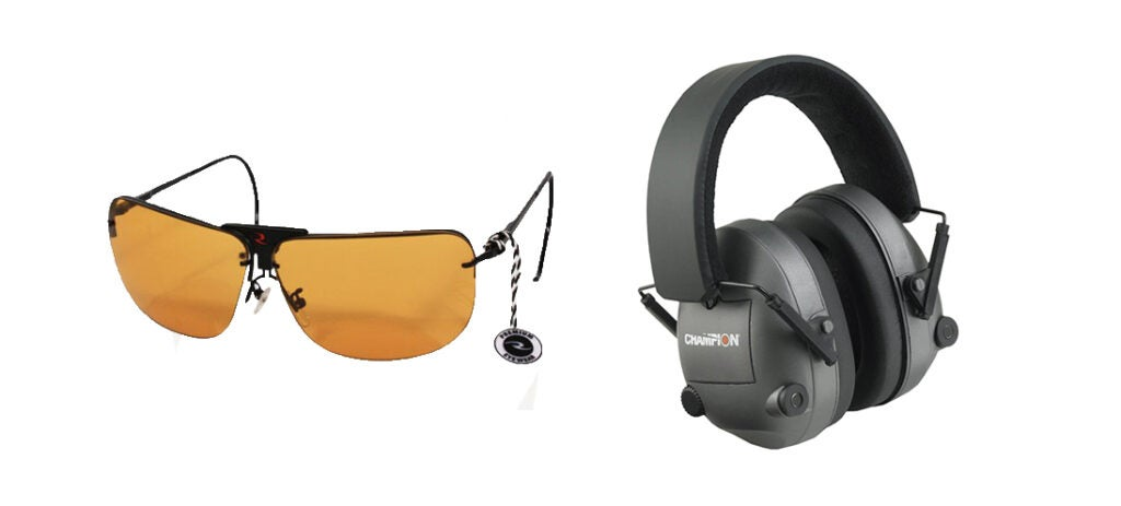 Radians RSG-3 Interchangeable Shooting Glasses and Champion Electronic Ear Muffs.