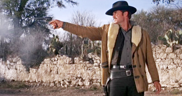 Garner in his first turn as Wyatt Earp in 1967 with a Colt SAA