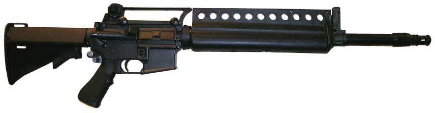 The Colt ACR with the carry handle and rear iron sight attached.