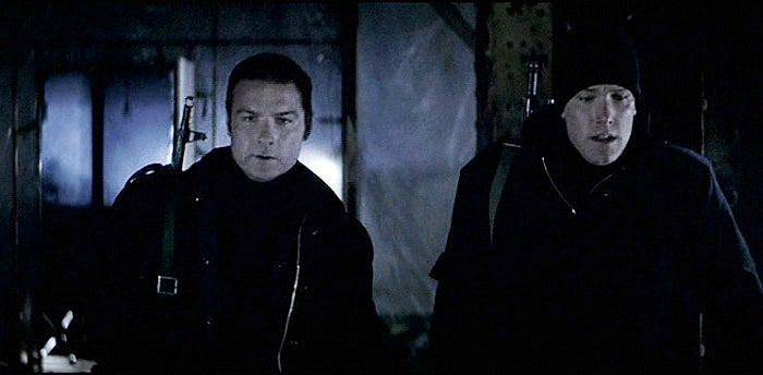 Liev Schreiber played John Clark with Ben Afleck as Jack Ryan in *The Sum of All Fears* (2002). Here they are both seen with slung Norinco Type 84S-2 rifles.
