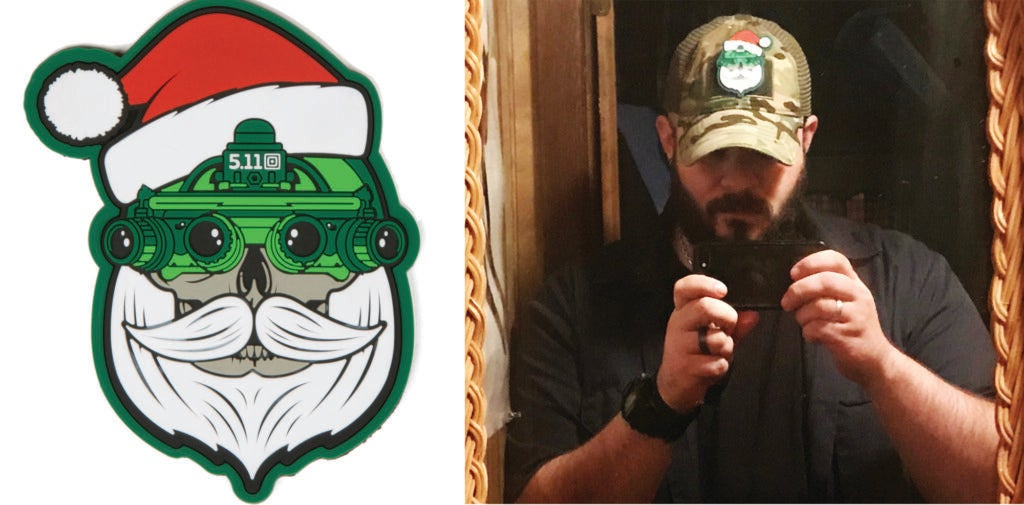 5.11 Tactical's new Santa patch on a Notch cap. Perfect for the holidays.