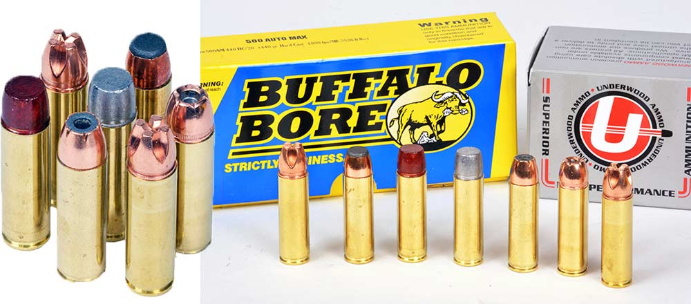 various ammo used in rifle test