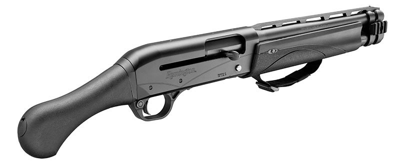 The gun comes from the factory with the same Raptor grip used on the Model 870 TAC-14, which means is technically a firearm and requires no tax stamp to purchase.