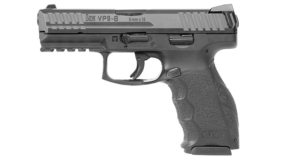The new VP9-B has a push-button magazine release that is more familiar to American gun owners.
