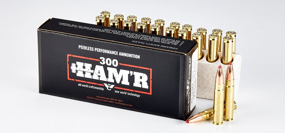 The 300 HAM'R delivers 2,260 feet per second and 1,701 foot-pounds of energy, making it ideal for hunting or defensive shooting.