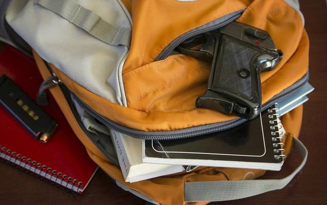 School officials aren't in favor of the law, but a state legislator says the right to self-defense can't be denied.
