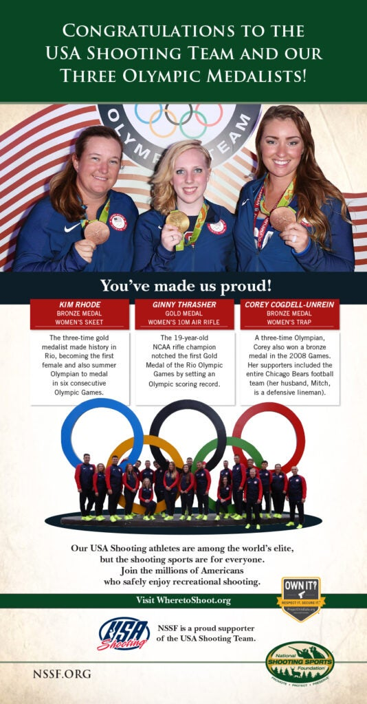 Ad in USA Today Features Women Olympic Shooters