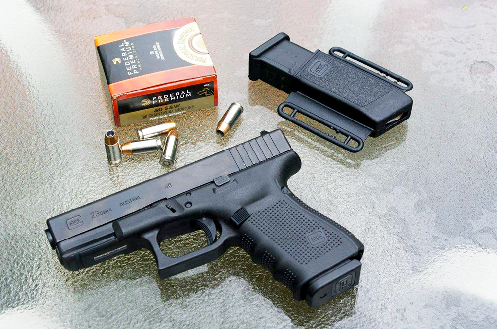 The .40 S&W was developed as a law-enforcement cartridge to duplicate the performance of FBI's reduced-velocity 10mm Auto cartridge.