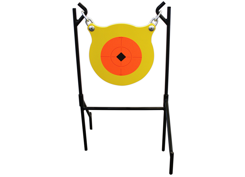 [The Boomslang Gong](https://www.birchwoodcasey.com/Targets/World-of-Targets/World-of-Targets®-Double-Mag-Super-Double-Mag™-(2).aspx) has a diameter of 9½ inches and is constructed of tough ½-inch AR5