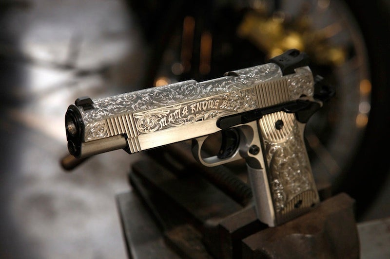 Brad and Angelina's Custom His-and-Her Pistols