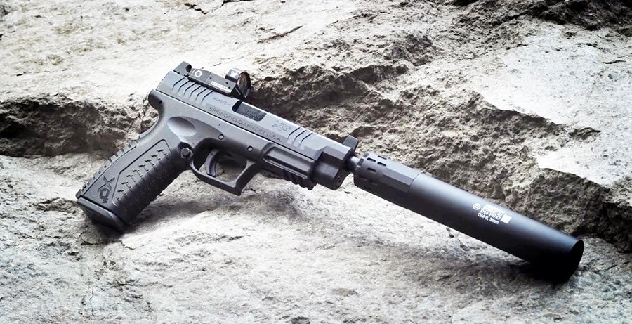 The XDM OSP with a suppressor attached.