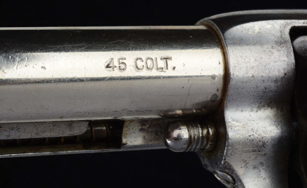 The Earp SAA is chambered in .45 Colt.