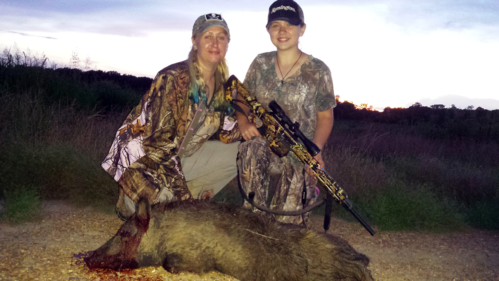 A Girl's First Hog Hunt