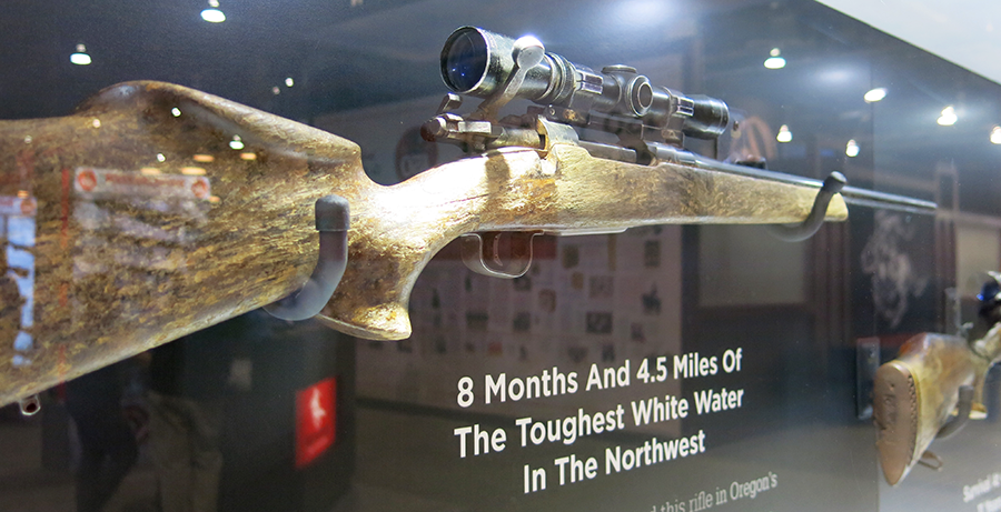 """""""A fall rafting accident claimed this rifle in Oregon's Grande Ronde River. It was found eight months later and 4.5 miles downstream. The Vari-X II scope is as functional as the day it left the factor"""