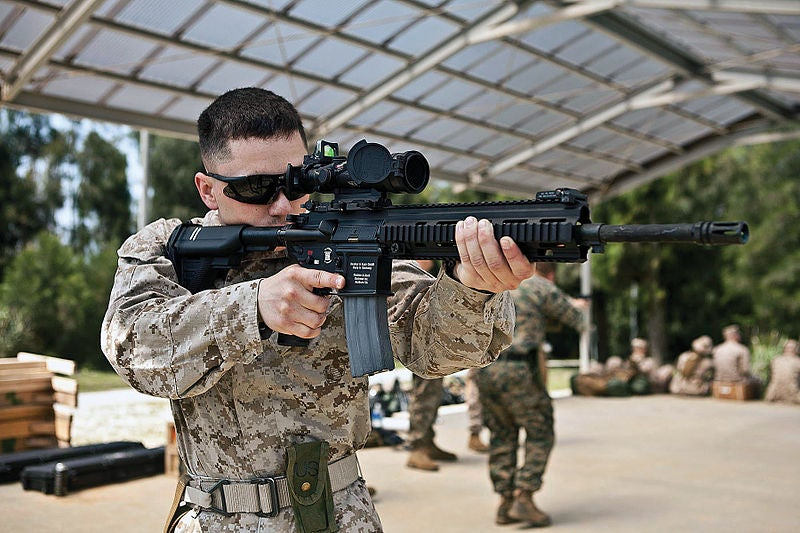 Marines Testing AR-Style Automatic Rifle