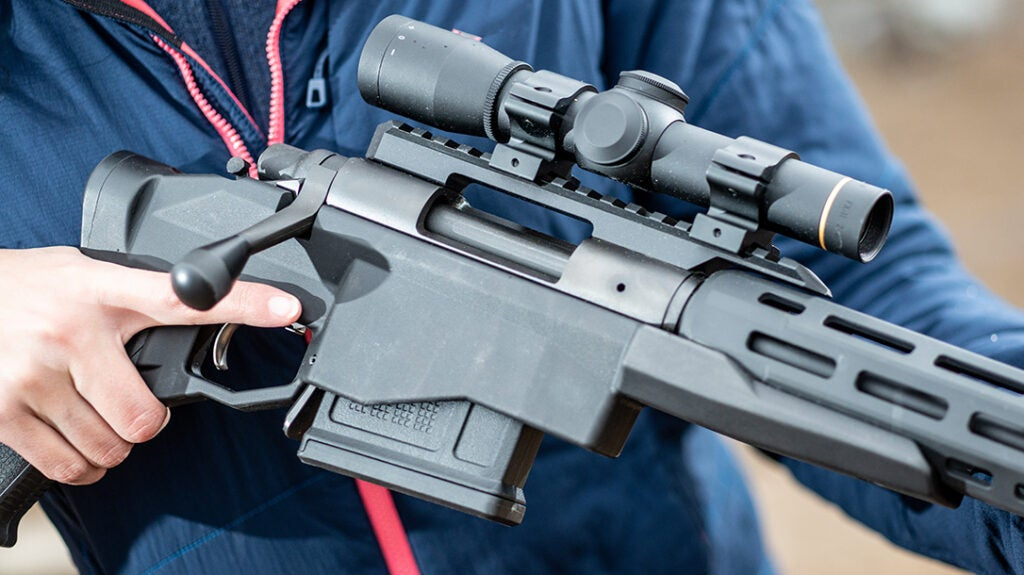 Accuracy International and Magpul PMags can be used in the 700 CP.